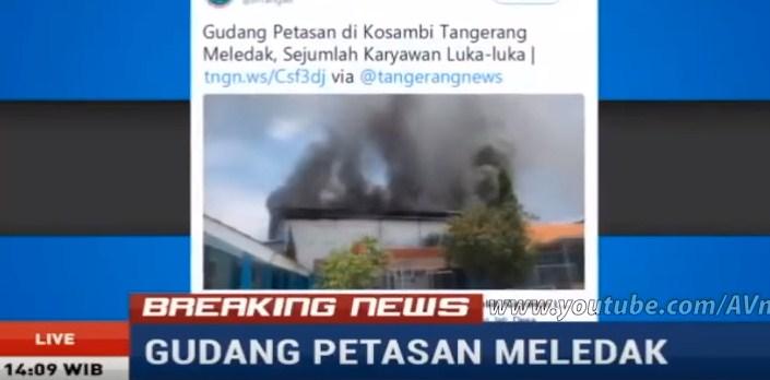 Astagfirullah.. Pabrik Petasan dan Kembang Api Meledak Hebat di Tangerang