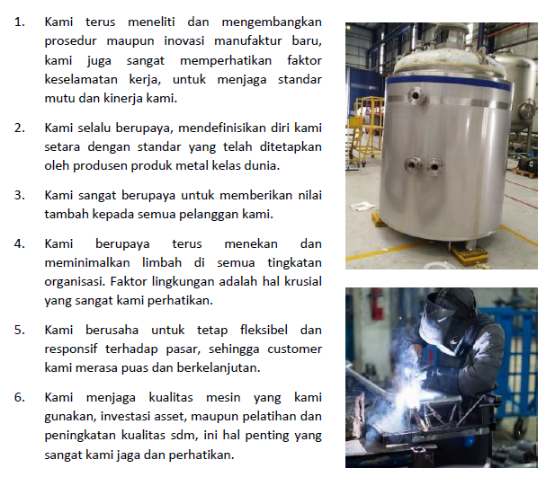 Spesialis fabrikasi stainless steel industri tangki stainless  troley  kitchen equipment di Bekasi Barat.